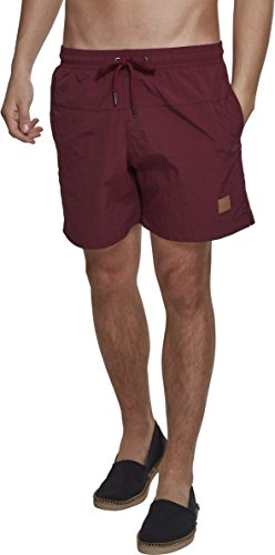 Urban Classics Herren Block Swim Shorts, Rot (Cherry 01151), S