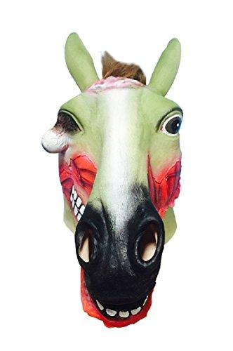 en Horror Blutiger Pferd Maske Scary Zombie Pferd Latex maske (Zombie-maske Pferd)