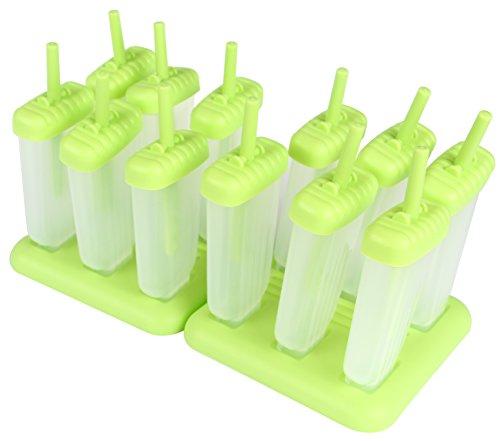 Yier Plastik Popsicle Formen Eis Lolly Maker BPA Free Kids Küche Eis Pop Moulds Maker, Pack von 2