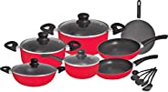 Aluminum non stick Cookware Set, Red, 16pcs, RF8430