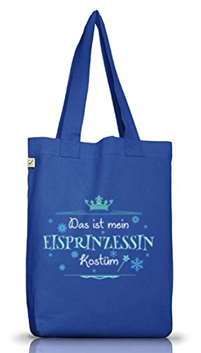Eisprinzessin Jutebeutel für Prinzessinkostüm Karneval Fasching Bright Blue