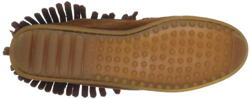 Minnetonka  Tie Fringe Ankle Boot, Mocassin femme Marron - Marron