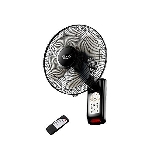 ZHWEI USB-Ventilatoren Wandventilator Wand-montiert Elektrischer Ventilator Elektrische Lüfter-Fernbedienung Mute Industriewand Kopfschütteln Großes Home-Restaurant Desktop (Fernbedienung Wand-ventilator)