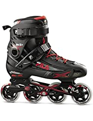 FILA® HOUDINI Hombres Patines en Línea | Inline Skates | Cuchillas ABEC7 | Tamaños 42.5-45 | Ruedas 82A PU 80 mm, Fila Größe:42.5, Fila Farbe:Black / Red