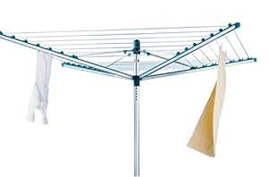 leifheit 85214 linomatic l400 s choir linge parapluie avec easy clip et douille de fixation au. Black Bedroom Furniture Sets. Home Design Ideas