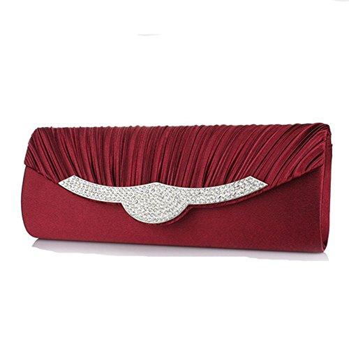 Eysee, Poschette giorno donna nero Silver 26 cm * 10 cm * 5 cm Red