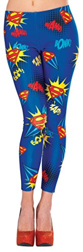 Supergirl Adult Women's Leggings One Size Fits ()