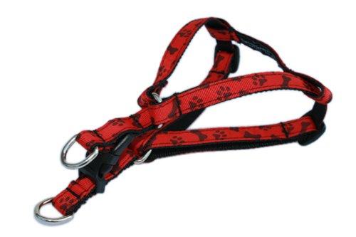 Sassy Dog Wear Hundegeschirr mit Pfoten und Knochen, Größe XS, 20,3-40,6 cm -