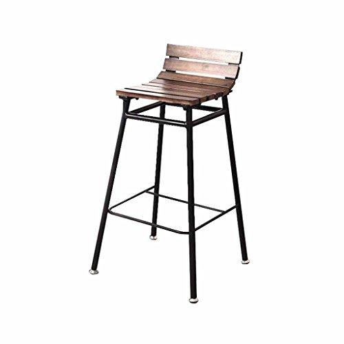 XING-ZI-Bar-stool X-L-H Barhocker, Home Küche Rückenlehne, Metall Kaffee Stuhl, Hochstuhl, Industrie Retro-Stil (Sitzhöhe 65cm, 75cm) (größe : 65cm) -