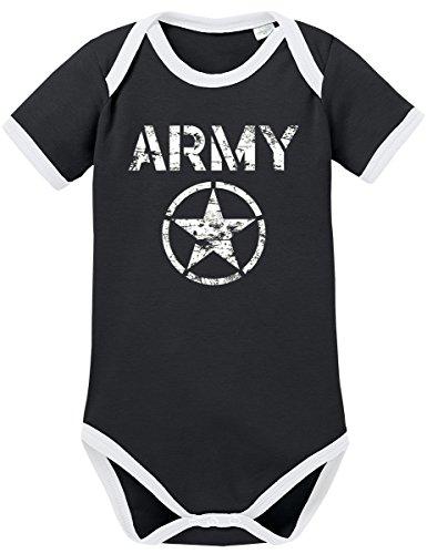 TSP Allied Star Army Kontrast Baby Body 50 56 Schwarz