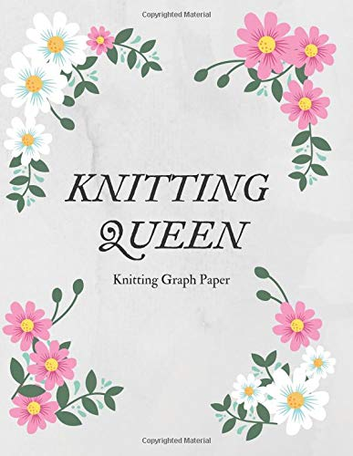 Knitting Queen - Knitting Graph Paper: Knitting Graph Paper Journal. Blank Knitting Design Book Patterns - Ration 4:5. Great Knitting Accessories & Gift Idea for all Knitting Lover.