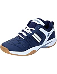 Zeefox Ryder Men's (Non-Marking) PU Badminton Shoes Navy Blue (FREE DELIVERY)