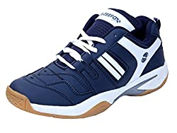 Zeefox Ryder Mens PU Badminton Shoes Navy Blue (10)