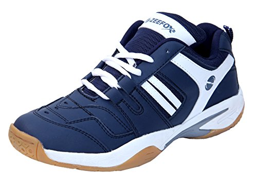ZEEFOX Ryder Men's PU Badminton Shoes Navy Blue