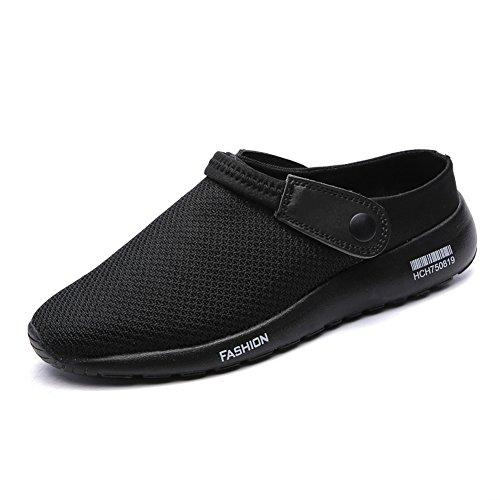SCIEU Herren Clogs Hausschuhe Pantolette Sommer Atmungsaktiv Beach Schuhe Sandalen