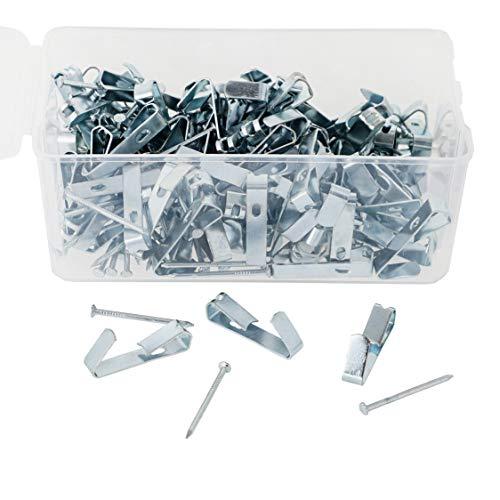 Genie Crafts Bilderhaken mit Nägeln, 2,5 cm, Metall, für bis zu 9 kg, 100 Stück (Kunststoff-platten Bulk)