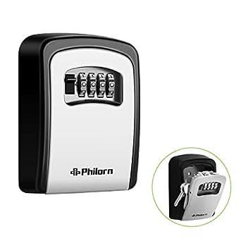 philorn cassetta di sicurezza per chiavi password resettabile resistente alle intemperie. Black Bedroom Furniture Sets. Home Design Ideas