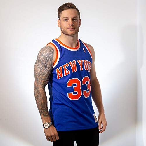 super popular 5f94c 2f43f Mitchell & Ness Patrick Ewing #33 New York Knicks 1991-92 Swingman NBA  Jersey Blue, S