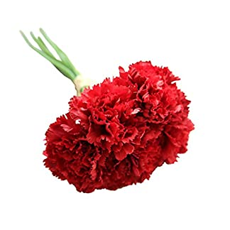Pink888 6 ramas/ramo de flores artificiales de claveles para el día de la madre, regalo para el hogar, decoración de flores