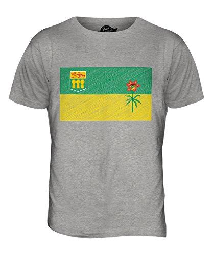 CandyMix Saskatchewan Kritzelte Flagge Herren T Shirt Grau Meliert