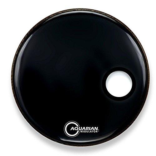 Aquarian Regulator 51 cm (20 Zoll) Bass Drum Fell mit kleinem Resonanzloch, schwarz