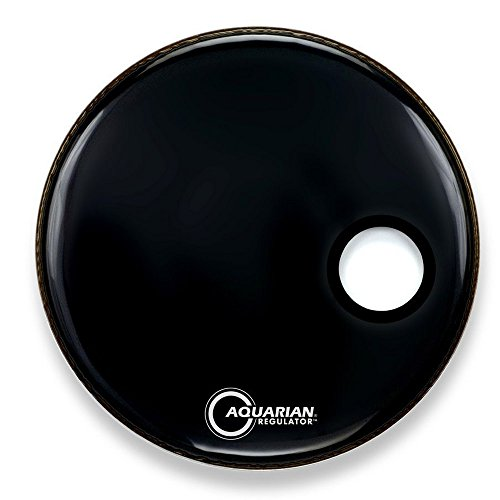 aquarian-regulator-22-inch-small-port-hole-bass-drum-head-black