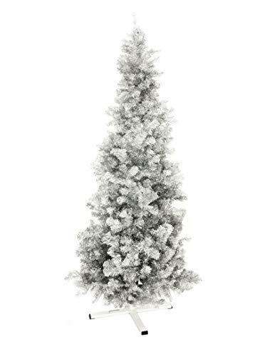 EUROPALMS Tannenbaum Futura, Silber-metallic, 210cm | Inklusive Ständer