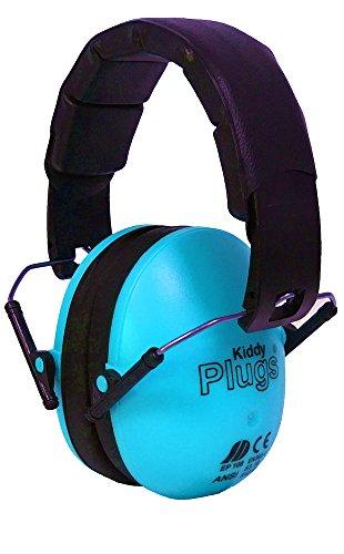 KiddyPlugs Kinder Kapsel Gehörschutz, Farbe: BLAU - top Qualität, schadstoffarm, Lärmschutz Kopfhörer, faltbar, größenverstellbar, weich gepolstert - auch für Jugendliche und Erwachsene