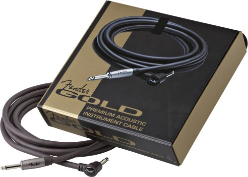 FENDER GOLD SERIES CABLE JACK COUDE/JACK 30 CM FOR ACOUSTIC GUITAR