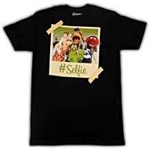 Disney The Muppets Crew Hashtag Selfie Adult Black T-shirt