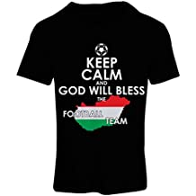 N4487F Camiseta Mujer Keep Calm and God Will Bless The Hungarian Football Team !