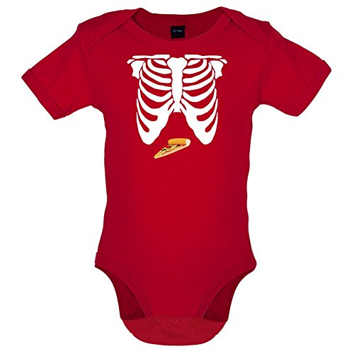 pizza-ventre-marrant-bebe-body-rouge-12-a-18-mois