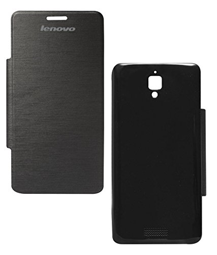 DMG Hot Pressed Flip Book Cover Case for Lenovo A526 (Black)  available at amazon for Rs.199