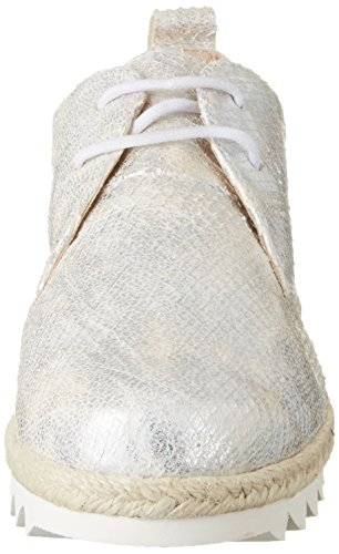 Caprice Damen 23701 Oxford Weiß (WHITE METALLIC)