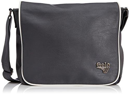 Gola Unisex-Erwachsene Webber Umhängetasche, Grey (Navy), One Size - Shirt Tasche Aktentasche