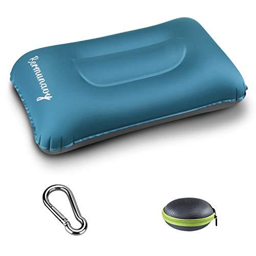 Bermunavy cuscini da campeggio, cuscino da viaggio - cuscino gonfiabile da campeggio impermeabile leggero portatile compatto (blu 1 pezzi)
