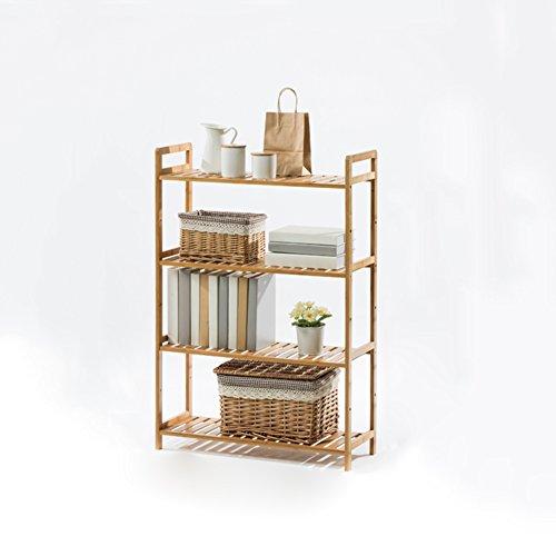 WYYY Etagère Tablette Support De Fleurs Rack De Stockage Multi-fonction Salon Chambre Quatre Couches Couleur Du Bois Bambou 35 * 25 * 100 Cm (taille : 68 * 25 * 100cm)