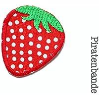 Erdbeere Patch zum aufbügeln Applikation gestickt für Mädchen