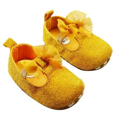 Baby Bucket Pre-Walker Sandal Shoes Light Weight Soft Sole Gold Color Booties Sandal (12-18 Months)  available at amazon for Rs.360
