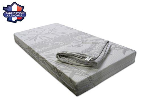 Modulit funda para colchón de cama de bebé (Fibra de Bambú, fabricación francesa Talla:Pour matelas 70x140cm
