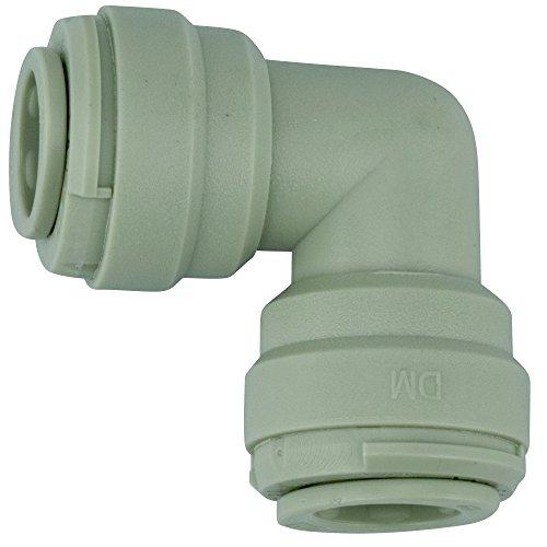 """KREFT Adapter Fitting Steckverbindung für 8mm Schläuche (durchmesser außen) Verbindungsstück Wasseranschluss für Kühlschrank, Bewässerungssystem (Verbindung Winkel, 5/16"""" (8mm))"""