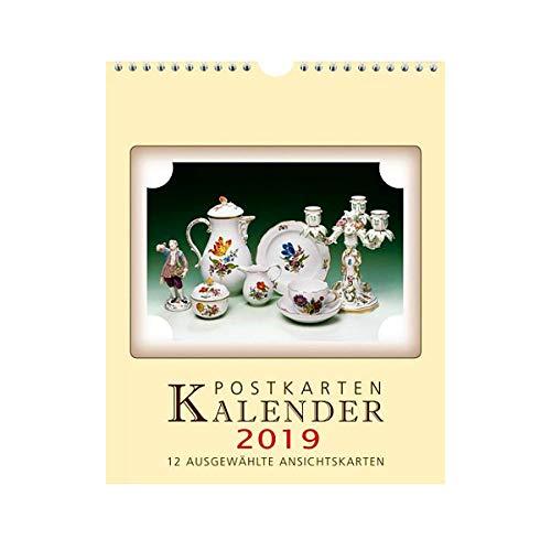 Brück & Sohn Kunstverlag - Postkarten-Einsteckkalender Motive Meißner Porzellan