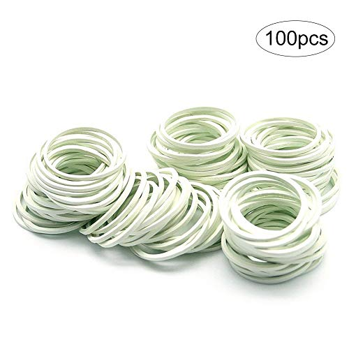 hilai-weiß, 100Stück, für Kinder, geflochtene Zöpfe, Dreadlocks,