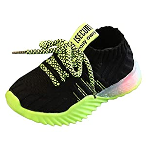 A-Arist Kinder Freizeitschuhe Baby Mädchen Jungen Mesh Sneakers Socken Schuhe Led Leuchtende Schuhe Outdoor Slip-On Sportschuhe Sport Run Sneakers Atmungsaktive Kinderschuhe