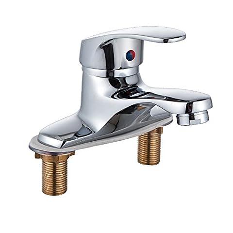 SAEJJ-Basin Taps Double Basin Faucet _ Basin Faucet Copper Faucet Lavatory Faucet bathroom Taps