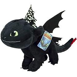 playbyplay Dragons, como Entrenar a tu dragón 3 - Peluche Desdentao 30 Cm Brilla en la Oscuridad - 760017684-1