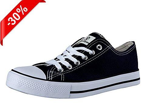 Shinmax New Unisex Low-Cut-Leinwand Alle Stern Saison spitzeups Schuhe Lässige Sneaker für Männer und Frauen (35, Schwarz) (Leinwand-gummi-ente)