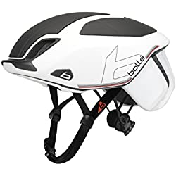 Bollé 31582 The One Premium - Casco Ciclismo, Unisex Adulto, Blanco/Negro, 58-61 cm
