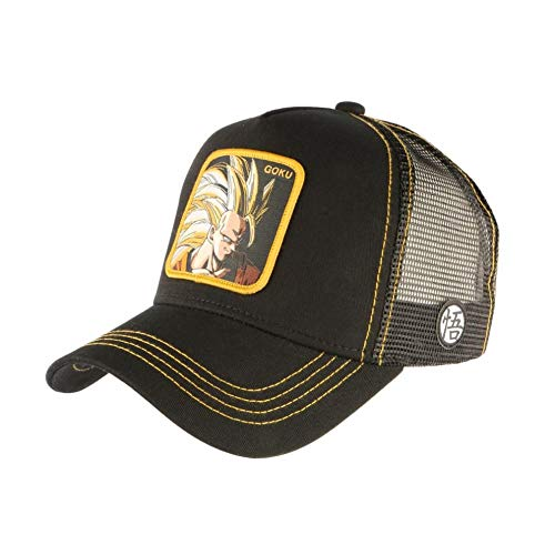 Capslab Son Goku Super Sayajin Trucker Cap Dragon Ball Z Black - One-Size