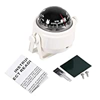 Marine Electronic Compass, ABS Multi-Purpose Waterproof Compass Sea Marine Bracket Mount Voyager Compass Hiking and…